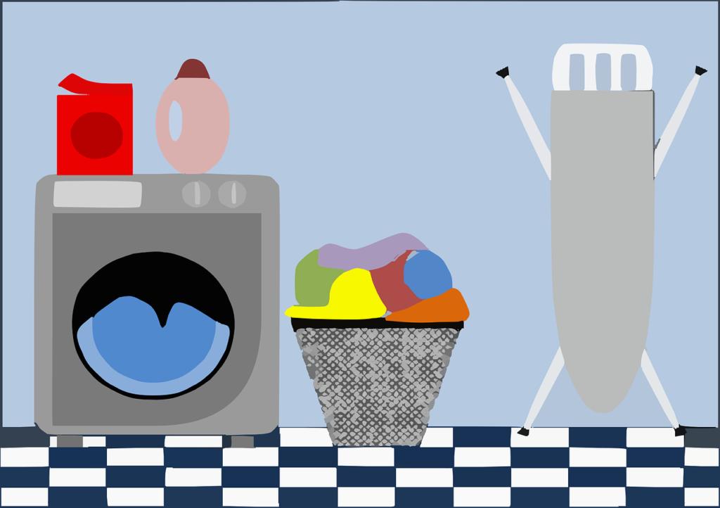 ドラム式洗濯機のイラスト画像